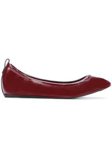 Lanvin elasticated ballerina shoes - Pink & Purple