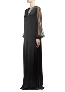 Lanvin Embellished Blouson-Sleeve Gown