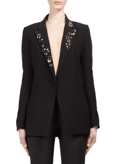 Lanvin Embellished Button Front Blazer