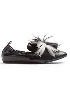 Lanvin Embellished leather loafers
