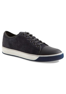 Lanvin Embossed Nubuck Low Top Sneaker (Men)
