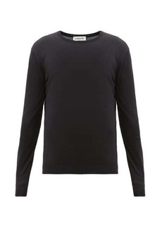 Lanvin Embroidered-logo wool sweater