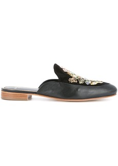 Lanvin embroidered mules - Black