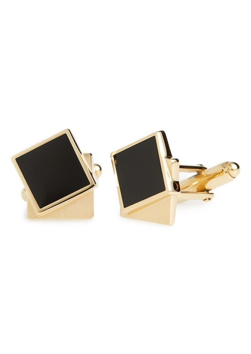 Lanvin Enameled Double Square Cuff Links