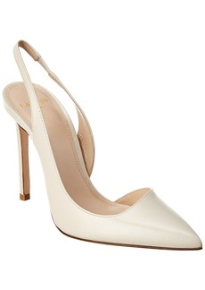 Lanvin Escarpin Leather Slingback Pump