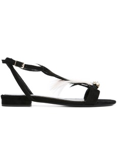 Lanvin feathered sandals - Black