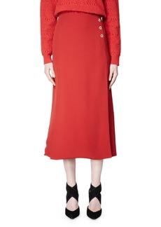 Lanvin Flared Woven Midi Skirt