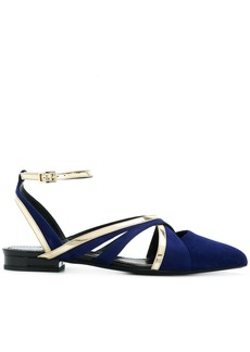 Lanvin flat pointed sandals - Blue