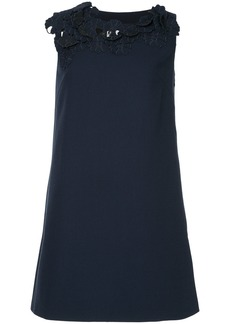 Lanvin floral collar dress - Blue