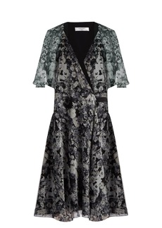 Lanvin Floral-print silk dress
