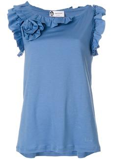 Lanvin flower appliqué blouse - Blue