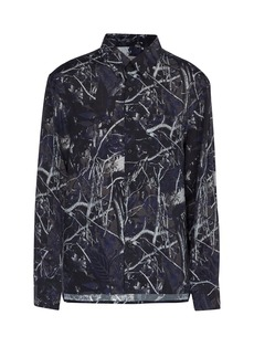 Lanvin Forest Camouflage-print oversized shirt