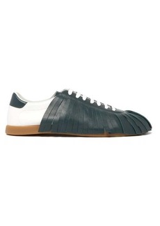 Lanvin Fringed leather trainers