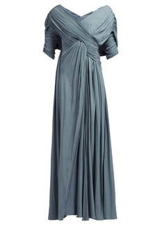 Lanvin Gathered voile gown