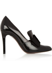 Lanvin Glossed leather loafer-style pumps