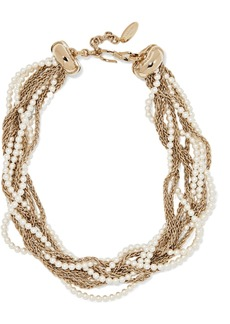 Lanvin Gold-plated faux pearl necklace