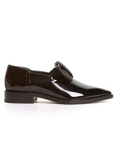 Lanvin Grosgrain-bow patent-leather loafers