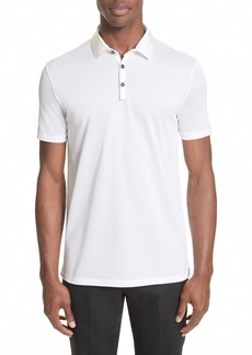 Lanvin Grosgrain Collar Polo