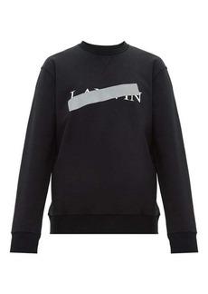 Lanvin Hidden logo-print cotton sweatshirt
