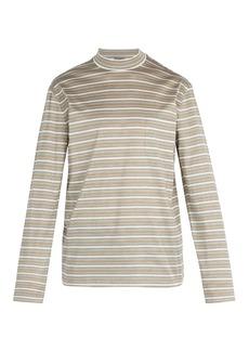 Lanvin High-neck long-sleeved cotton T-shirt