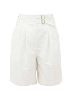 Lanvin High-rise cotton shorts