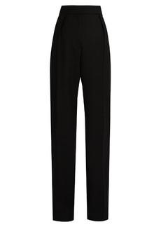 Lanvin High-rise straight-leg wool-twill trousers