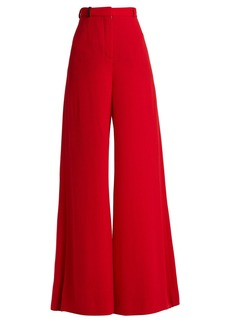 Lanvin High-rise wool-crepe tailored trousers
