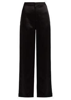 Lanvin High-waisted satin trousers