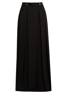 Lanvin High-waisted wide-leg satin-crepe trousers