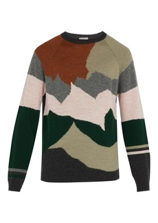 Lanvin Intarsia-knit wool and cashmere-blend sweater