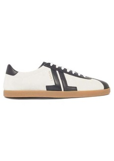 Lanvin JL low top suede trainers