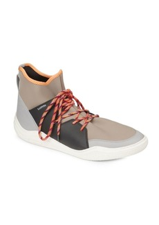 Lanvin Knit Neoprene High-Top Sneakers