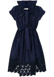 Lanvin lace trim dress - Blue