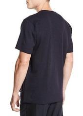 Lanvin Lacing-Front Short-Sleeve Tee