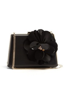 Lanvin Le Petit Sac flower-appliqué leather box clutch
