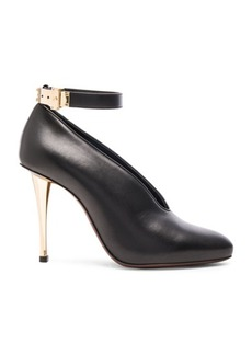 Lanvin Leather Ankle Strap & Safe Lock Pumps