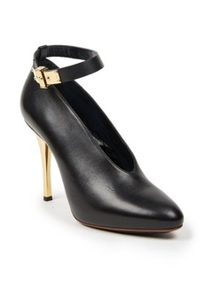 Lanvin Leather Ankle-Strap Pumps