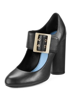 Lanvin Leather Mary Jane 105mm Pump