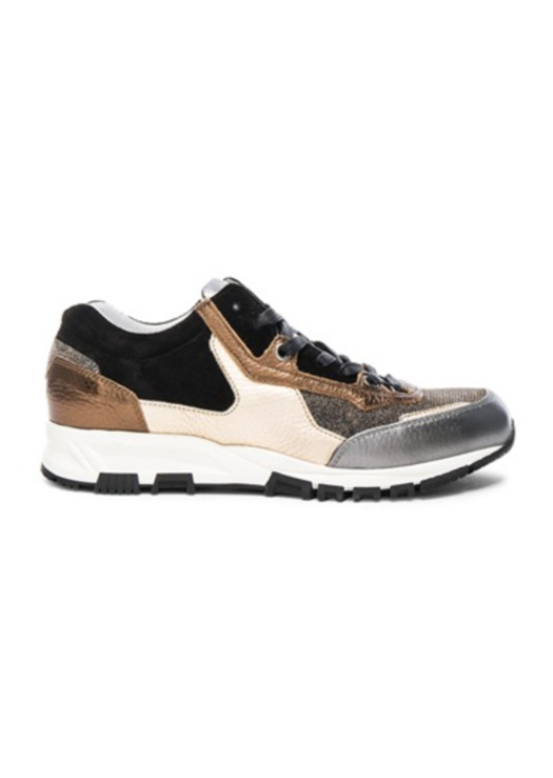 Lanvin Leather Running Sneakers