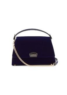 Lanvin Leather-trimmed velvet shoulder bag