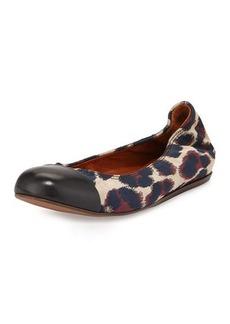 Lanvin Leopard Jacquard Ballet Flat