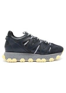 Lanvin Lightening panelled-leather trainers