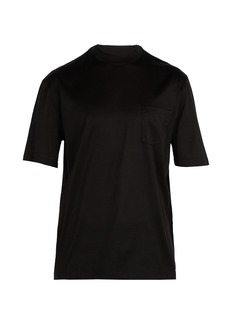 Lanvin Logo high-neck cotton T-shirt