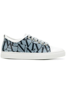 Lanvin logo printed sneakers - Multicolour