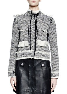 Lanvin Long-Sleeve Jean-Style Jacket