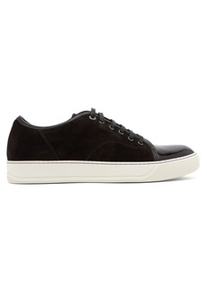 Lanvin Low-top suede and patent leather trainers