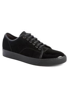 Lanvin Low Top Suede Sneaker (Men)