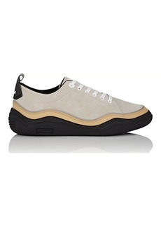 Lanvin Men's Leather-Wrapped Suede Sneakers