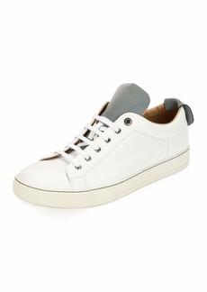Lanvin Men's Reflective Two-Tone Leather Low-Top Sneaker