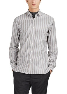 Lanvin Men's Variegated-Stripe Cotton End-On-End Shirt
